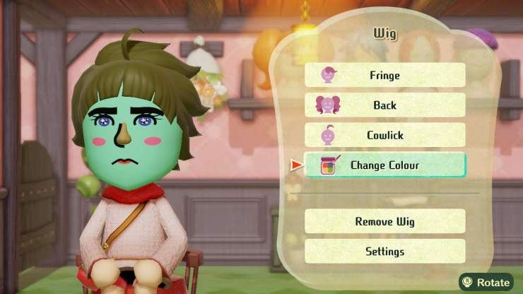 Mii character creation