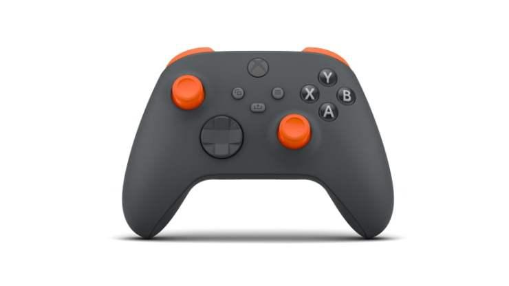 custom xbox series X S controller thumbsticks orange grey