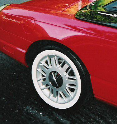 wide white wall tires for thunderbird
