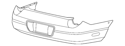 2002-2005 Thunderbird OEM Rear Bumper Cover