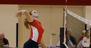 Senior Olivia Mohler against Jackson State earlier in the season.