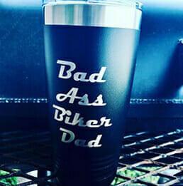 Bad ass laser mug