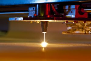 close up of medical device laser engraving cutting machine
