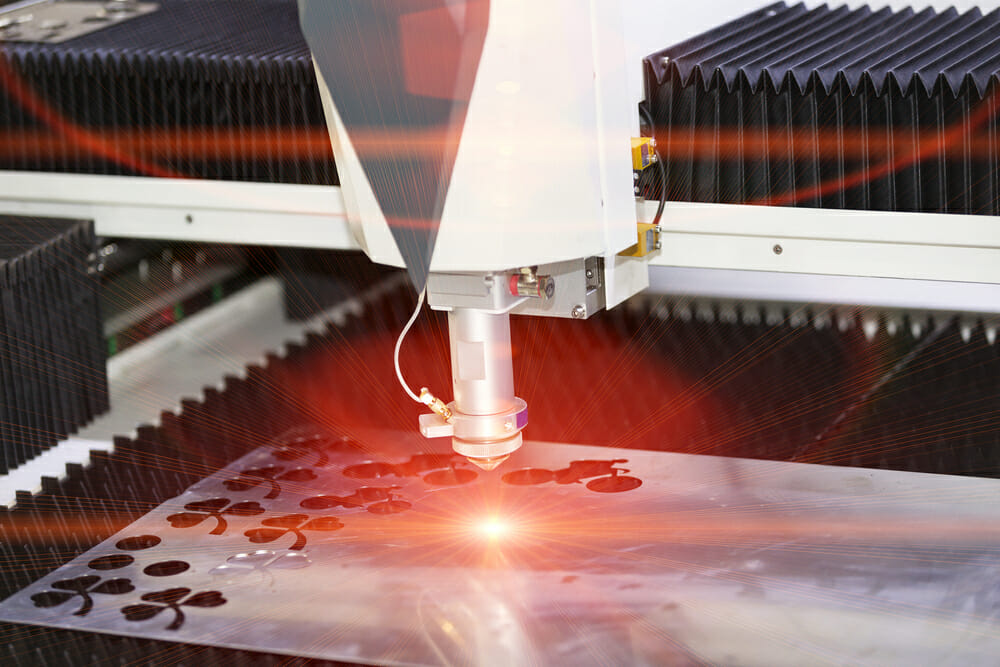 laser machine close up - how to make money with a laser engraver