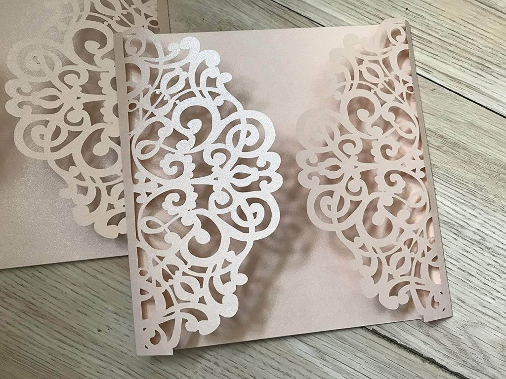 Invitation card made from paper laser cutting machine