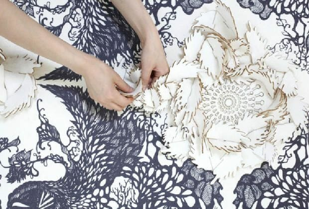 laser cut fabric with rose designs - laser cutting for fabric
