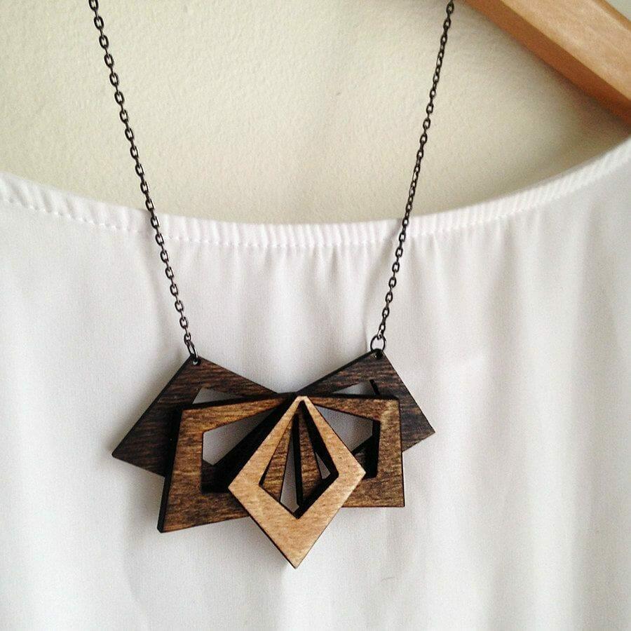 laser cut jewelry piece