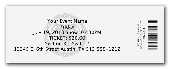 office ticket template