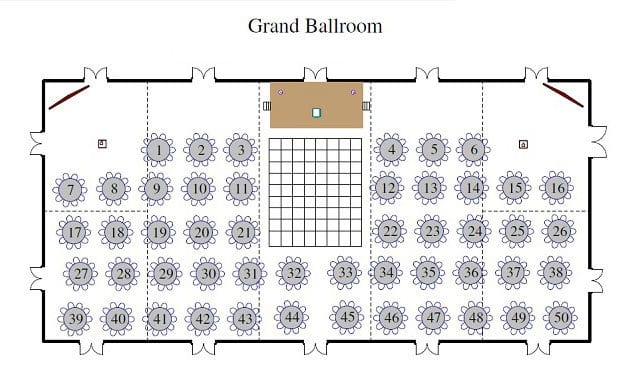 Reserved seating chart creation and setup