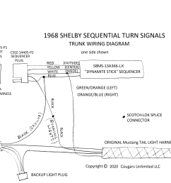 troubleshooting 1968 shelby sequential turn signals sequential turn lights wiring diagram [ 3277 x 2534 Pixel ]