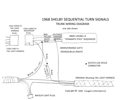 small resolution of troubleshooting 1968 shelby sequential turn signals sequential turn lights wiring diagram