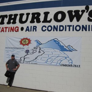 owner rick thurlow on site of building