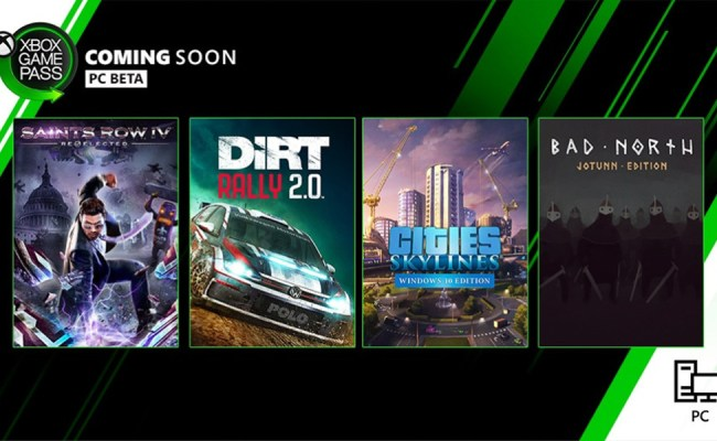 Here Are The New Games Coming To Xbox Game Pass For Pc