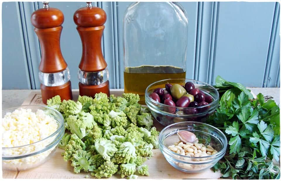 Romanesco Pizza ingredients