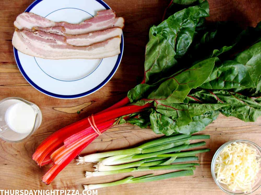 swiss chard pizza ingredients