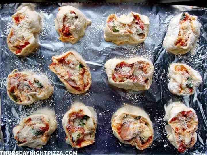 Prosciutto Pizza Rolls process