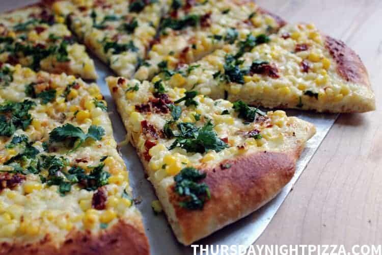 Chipotle Creamed Corn Pizza