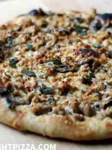 Chicken, Sausage, and Sage Pizza