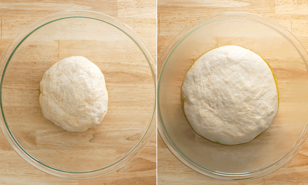 pizza dough rising