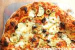 Healthy Vegetarian Pizza closeup