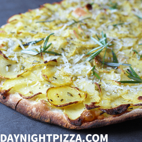 Simple Potato Pizza with Rosemary and Olive Oil (Vegan Pizza Recipe)