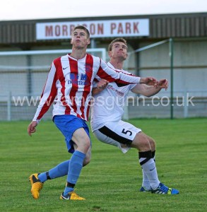 Marc McGregor in action v Brora Rangers