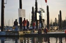 Crew Team Mates on Dock