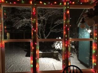 snow christmas lights steamboat island