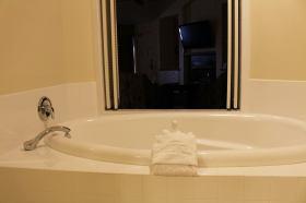 Relax in your luxurious soaking tub. Photo courtesy: Prairie Hotel