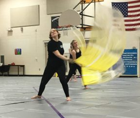 North Thurston High School Winterguard flag maneuver