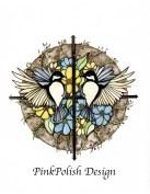 PinkPolish Design Birds Collage