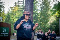 Welcome Woman Carving Unveiling The Evergreen State College-12