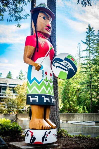 Welcome Woman Carving Unveiling The Evergreen State College-26