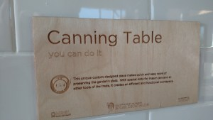 canning table