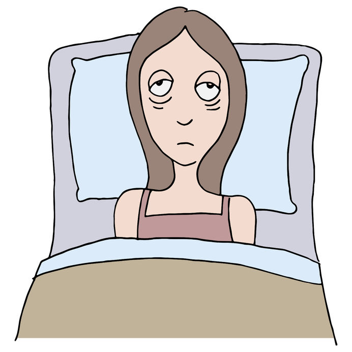 an image of a girl with insomnia.