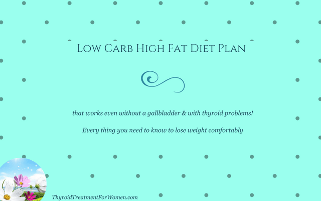 Low Carb High Fat Diet Plan For Those Without A Gallbladder & Thyroid Issues