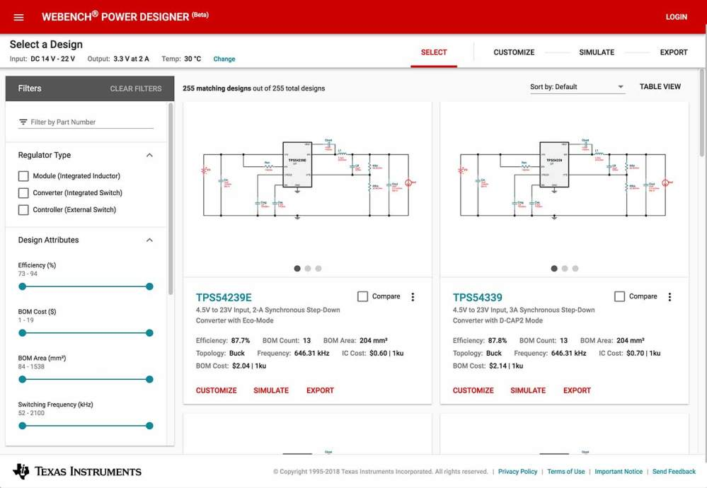 medium resolution of webench power designer improved layout