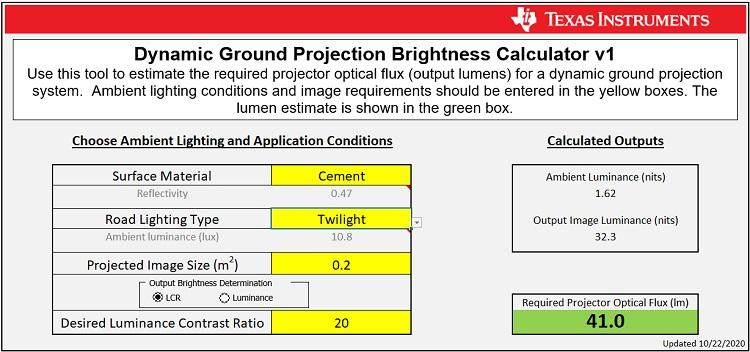 dlp dgp brightness calc calculation