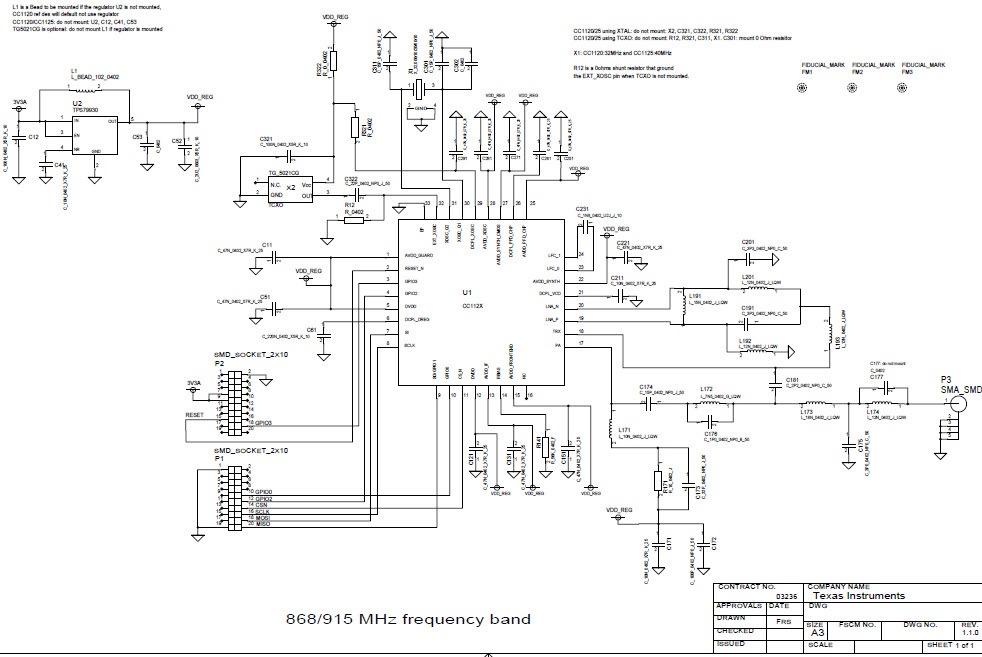 CC1125EM-868-915-RD CC1125EM 868/915MHz Reference Design