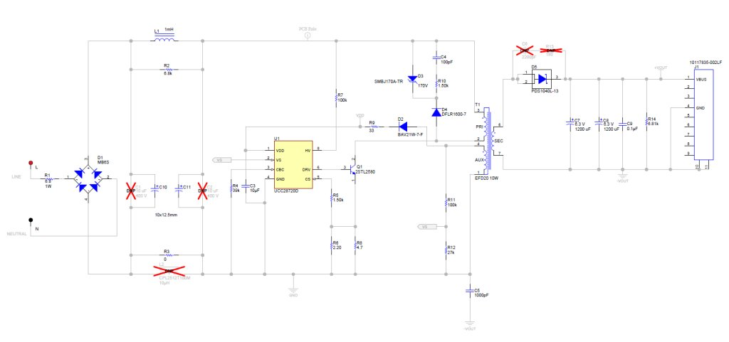 PMP9135 85 to 265VAC Input 5V/10W Low Cost Flyback with