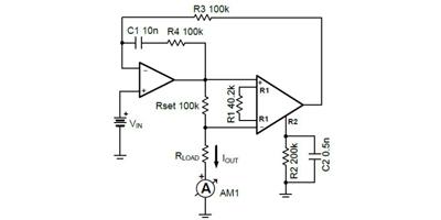 TIPD107 Low-Level V-to-I Converter Reference Design, 0V to