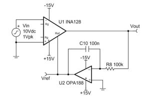 TIPD191 Instrumentation Amplifier with DC Rejection