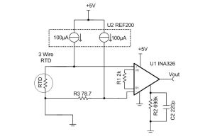 TIPD193 RTD to Voltage Reference Design Using