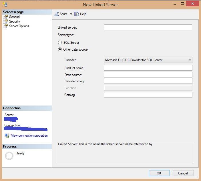 Criando um linked server do sql server para o oracle - Porta sql server ...