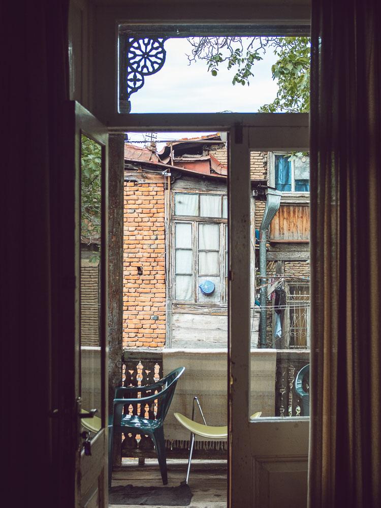 Vista dalla guesthouse