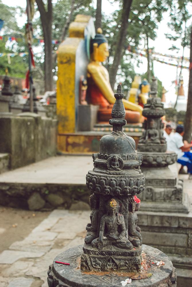Swayambhunath, monkeys temple in Kathmandu