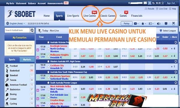 menu utama sbobet casino - Cara Daftar Sbobet Casino