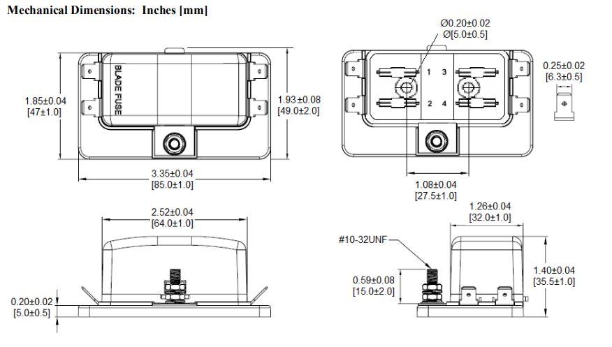 China Customized Multi Way Blade Fuse Block With Spade