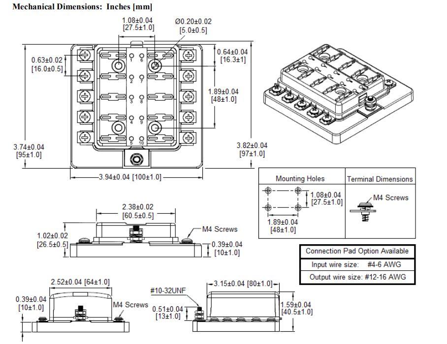 China Customized Multi Way LED Blade Fuse Block With Screw