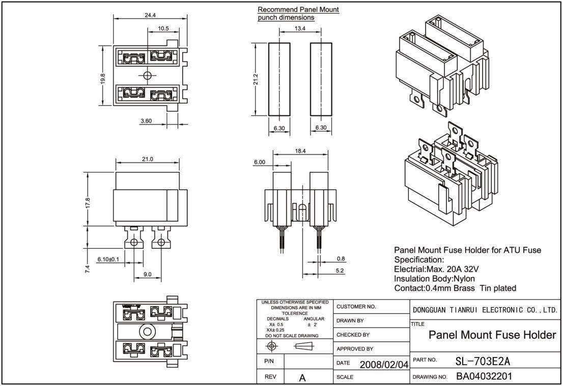 China Customized Electronic Auto PCB Mount Blade Plugin